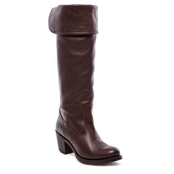 Frye Jane tall cuff boots 9